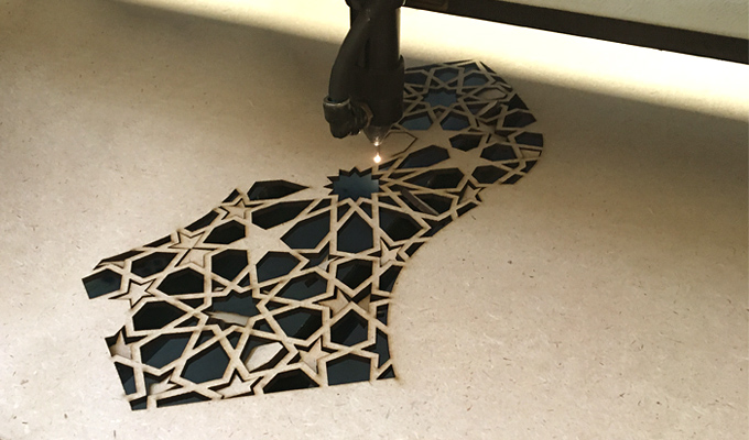 arabic design laser cutting on mdf