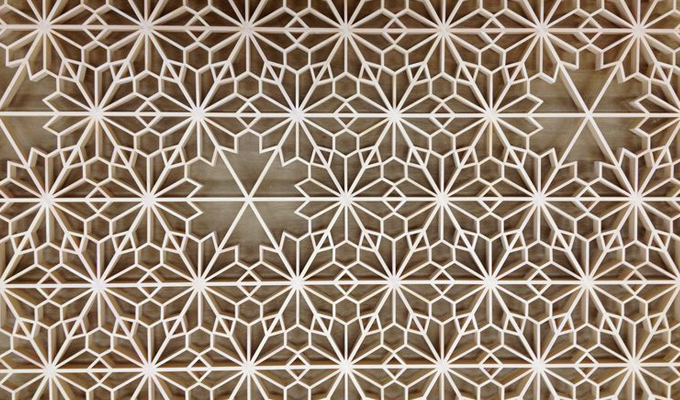 wall panel laser cutting on mdf
