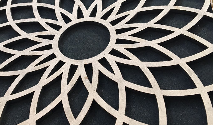 Laser cutting on mdf